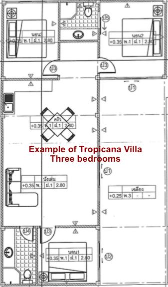 Blueprint Tropicana Villa Three Bedrooms