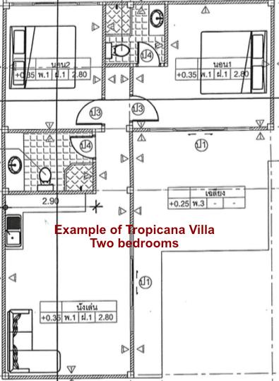 Blueprint Tropicana Villa Two Bedrooms 2